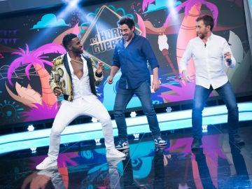 Jason Derulo enseña a bailar a Pablo Chiapella y a Pablo Motos en 'El Hormiguero 3.0'