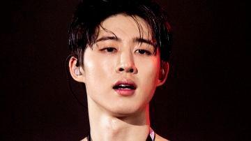 """B.I durante el """"iKON 2018 Continue Tour"""" en Seúl en agosto de 2018."""