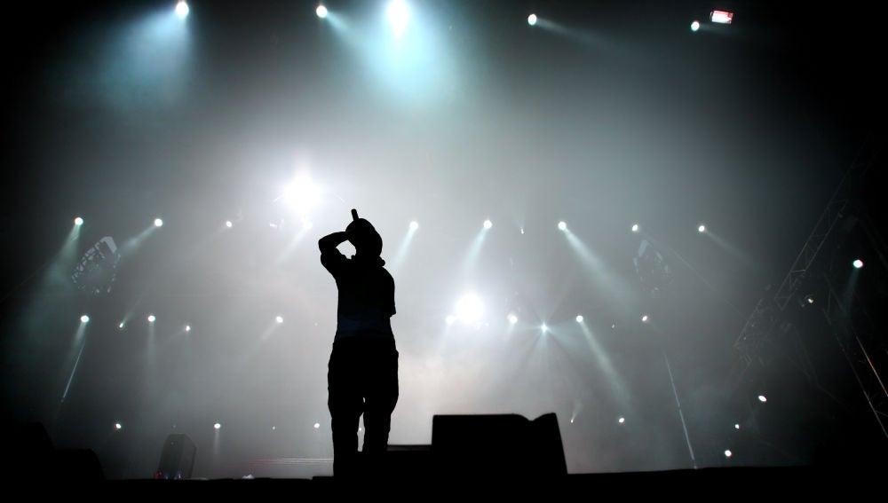Freestyler sobre el escenario