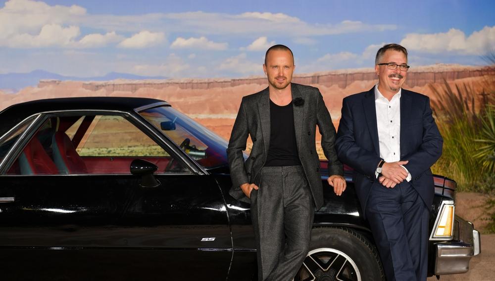 Aaron Paul y Vince Gilligan, protagonista y director de El Camino