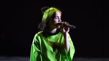 Billie Eilish en concierto mostrando sus raices