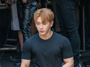 Wonho, en una visita a Los Angeles el pasado verano