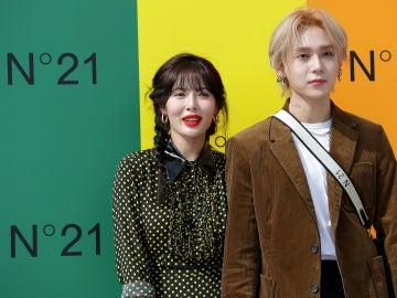 Hyuna y Dawn en un acto promocional