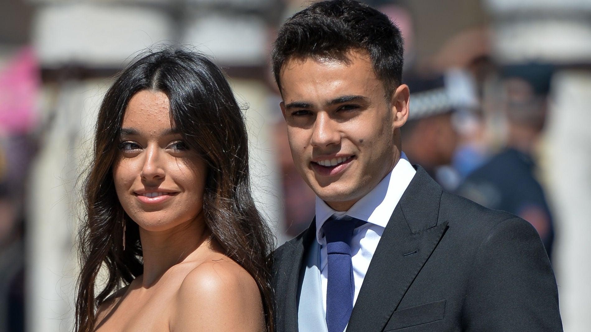 Marta Díaz y Sergio Reguilón en la boda de Pilar Rubio