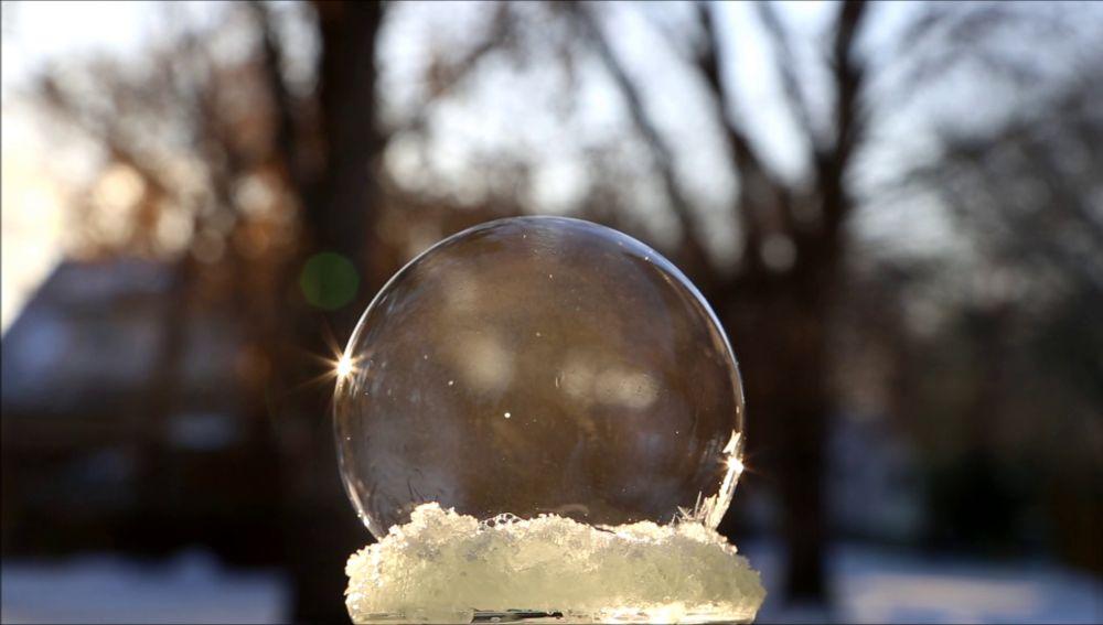 Así se congelan las burbujas