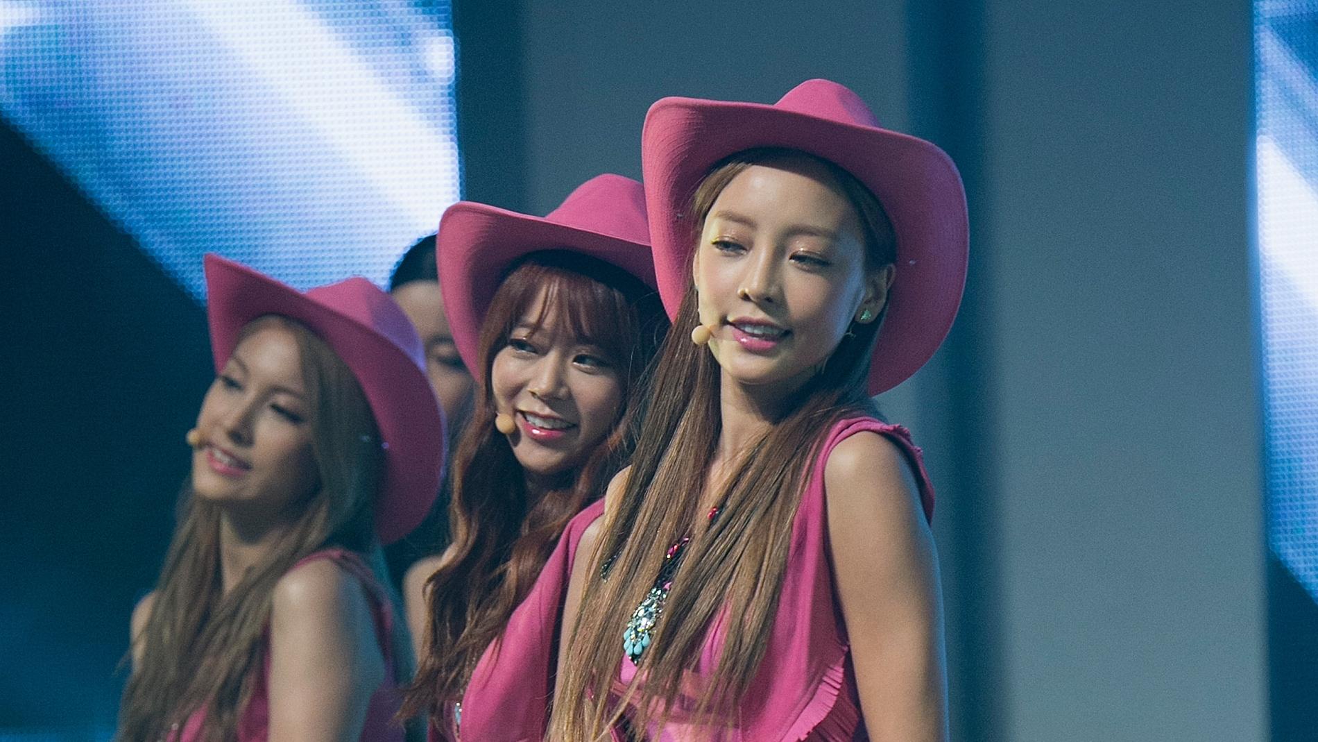 El grupo de K-pop Kara, con Hara en primer plano