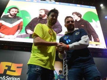 Willyrex y Ocelote en el torneo benéfico de Ibai