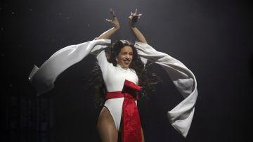 Rosalía en su concierto en el Wizink Center