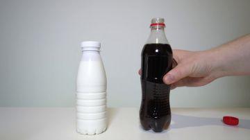 ¿Qué pasa si mezclas refresco de cola con leche?