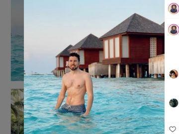 WillyRex de vacaciones en Maldivas