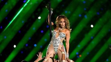 Jennifer Lopez en la final de la Super Bowl