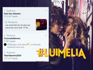 El estreno de #Luimelia amanece siendo Trending Topic en el día de San Valentín