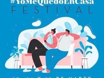 Cartel del #YoMeQuedoEnCasaFestival