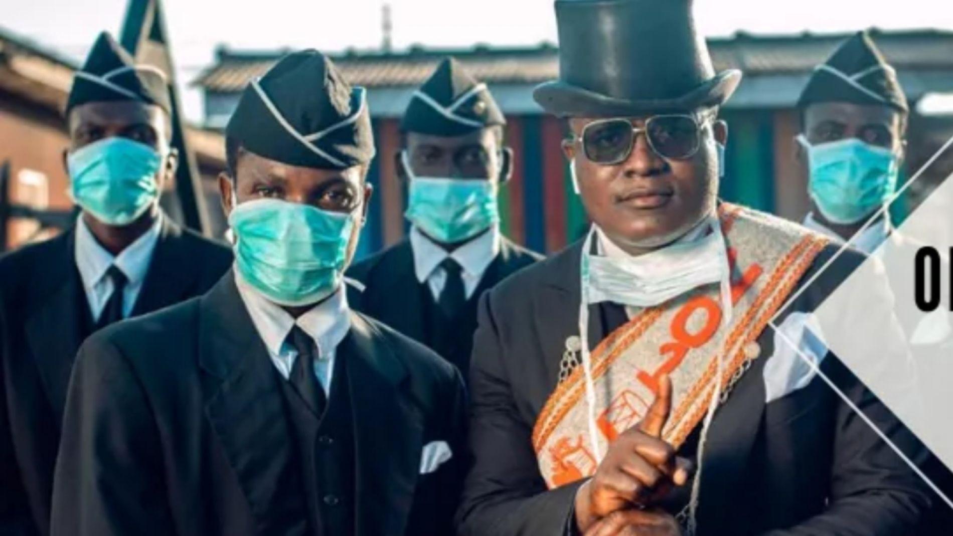 Los porteadores del #CoffinDance