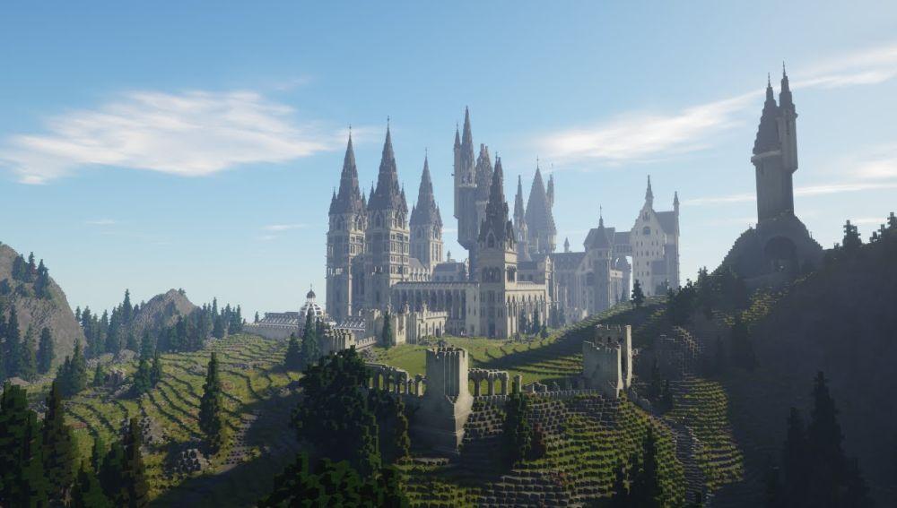 Así lucen los escenarios de Harry Potter en Minecraft
