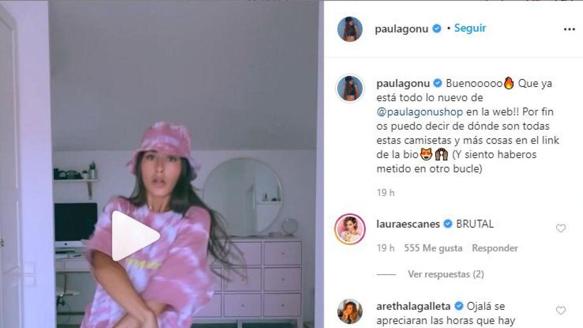 Paula Gonu estrena su nueva colección de ropa