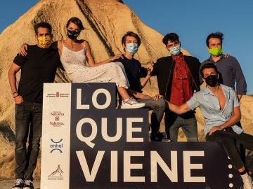 El elenco de 'Campamento Albanta' en el festival 'Lo que viene' de Tudela