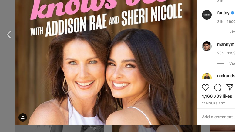 Sheri Nicole y Addison Rae