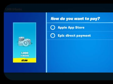 Modelo de pago directo de Epic Games en Fortnite