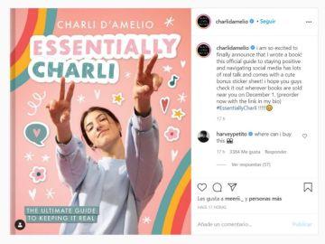 Charli D'Amelio ya tiene libro
