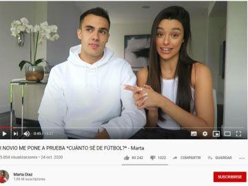 Marta Díaz y Sergio Reguilón