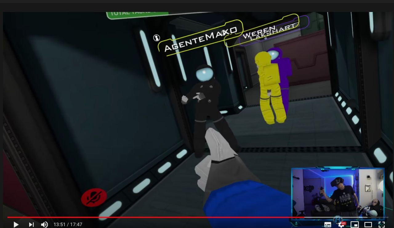 Alexby le ha cogido el truco a Among Us VR
