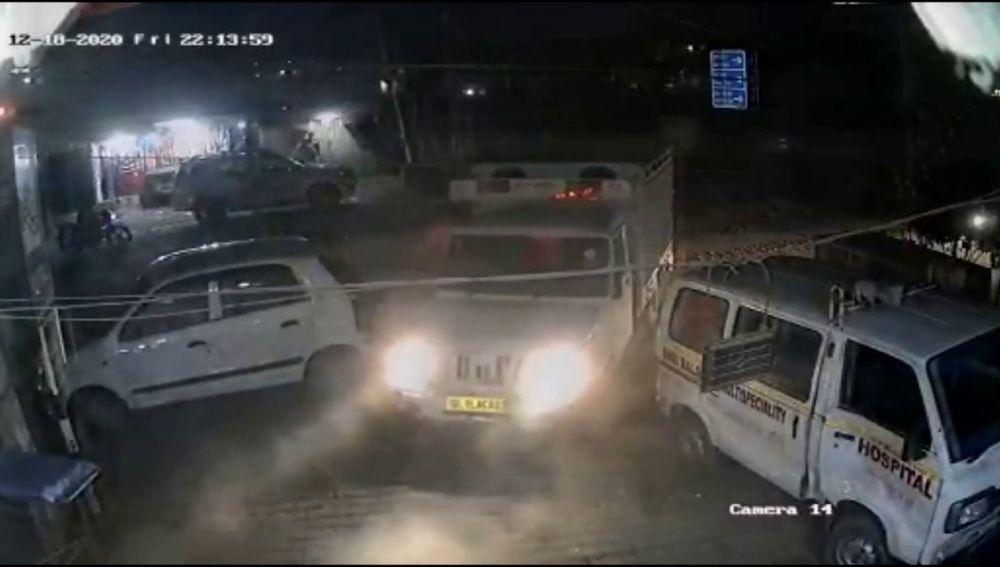 Un hijo enfadado embiste el hospital donde atienden a sus padres