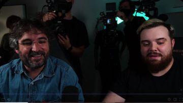 Jordi Évole e Ibai Llanos en Twitch