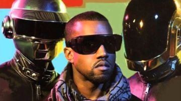 Kanye West y Daft Punk en la portada de 'Stronger'