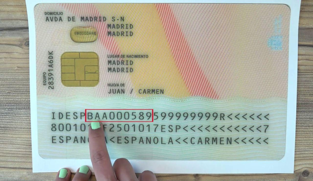 ¿Qué significa realmente el número que aparece en la parte trasera del DNI?