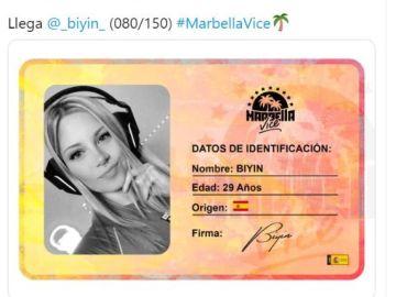 Biyín, uno de los nuevos fichajes de 'Marbella Vice'