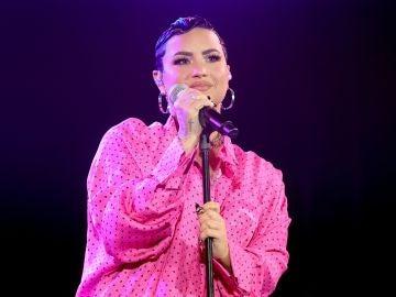Demi Lovato con el pelo corto