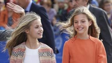 Las infantas Leonor y Sofía