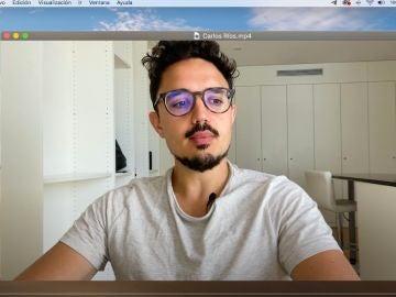 Carlos Ríos, en un vídeo de su canal