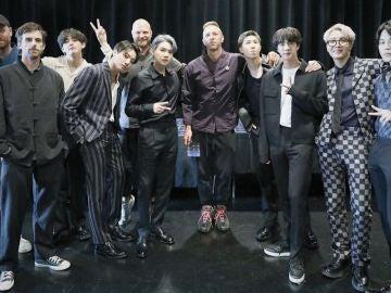 Coldplay y BTS se encontraron en Nueva York