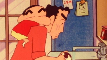 Shin-Chan - Capítulo 290: Tener lavaplatos es muy práctico / Kazama es un fan secreto / Esta noche no consigo dormir