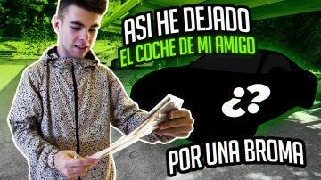 ASÍ HE DEJADO EL COCHE DE MI AMIGO POR UNA BROMA | Salva