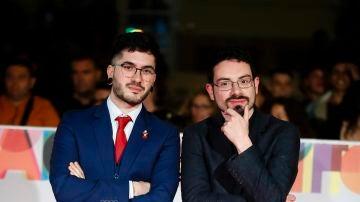 Ismael Prego (Wismichu) y Carlo Padial en el Festival de Málaga
