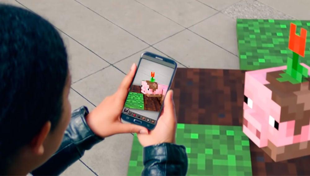 Minecraft en realidad aumentada