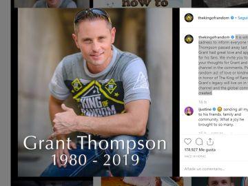 Muere el youtuber Grant Thompson en un accidente de parapente a los 38 años