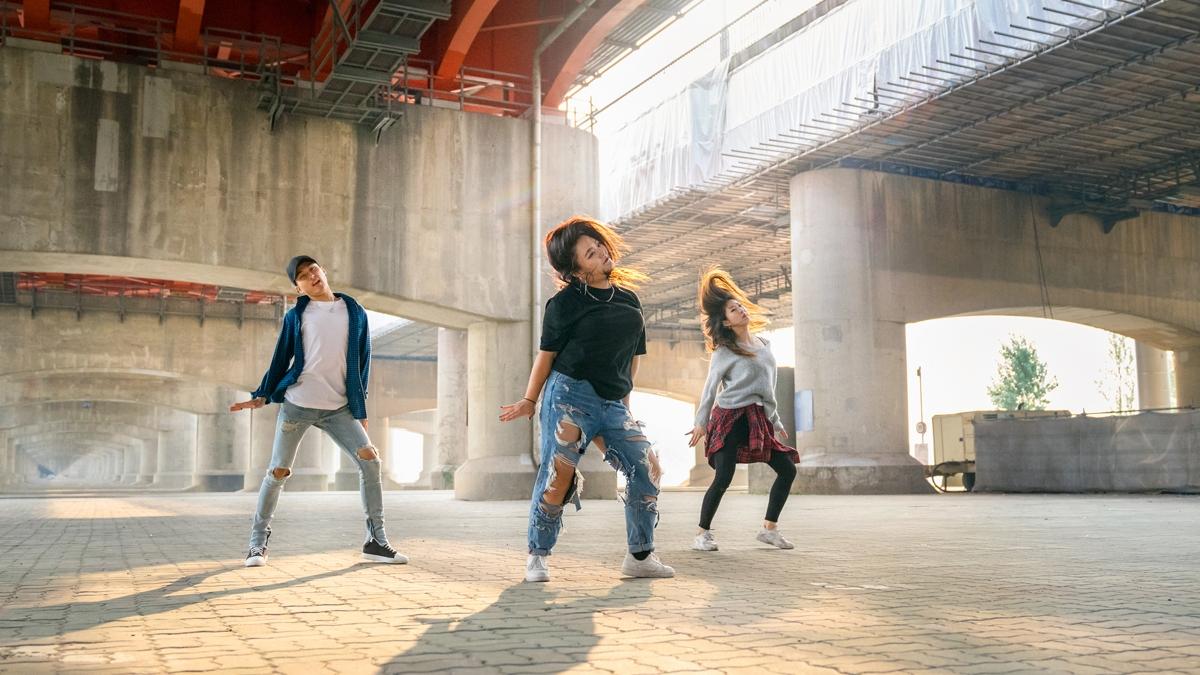 Bailarines en la calle