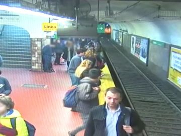 Vías del metro de Buenos Aires
