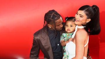 Kylie Jenner, Travis Scott y su hija Stormi