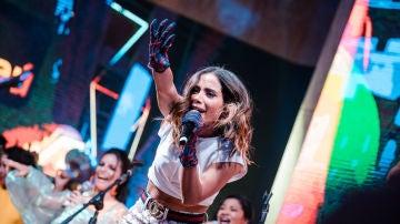 Anitta en directo sobre el escenario de Rock in Rio 2019