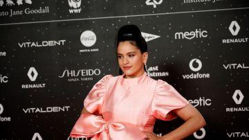 Rosalía en la alfombra roja de Los40 Music Awards