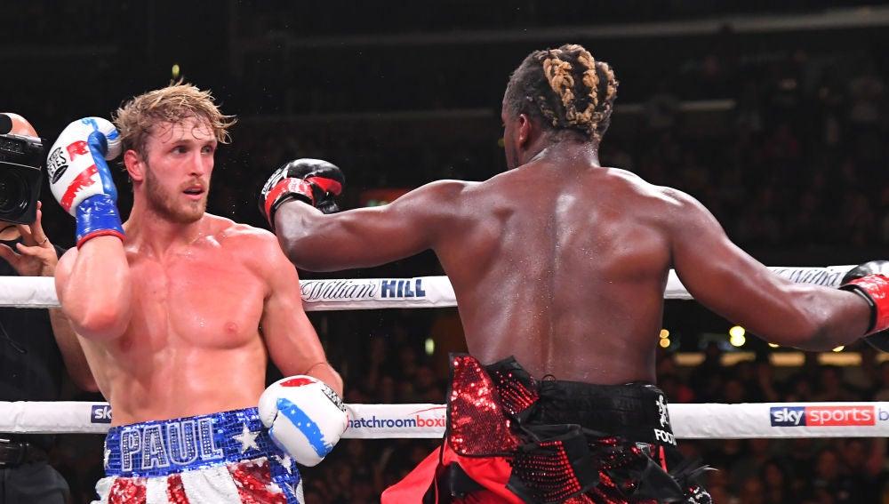 Logan Paul y KSI en su combate de boxeo