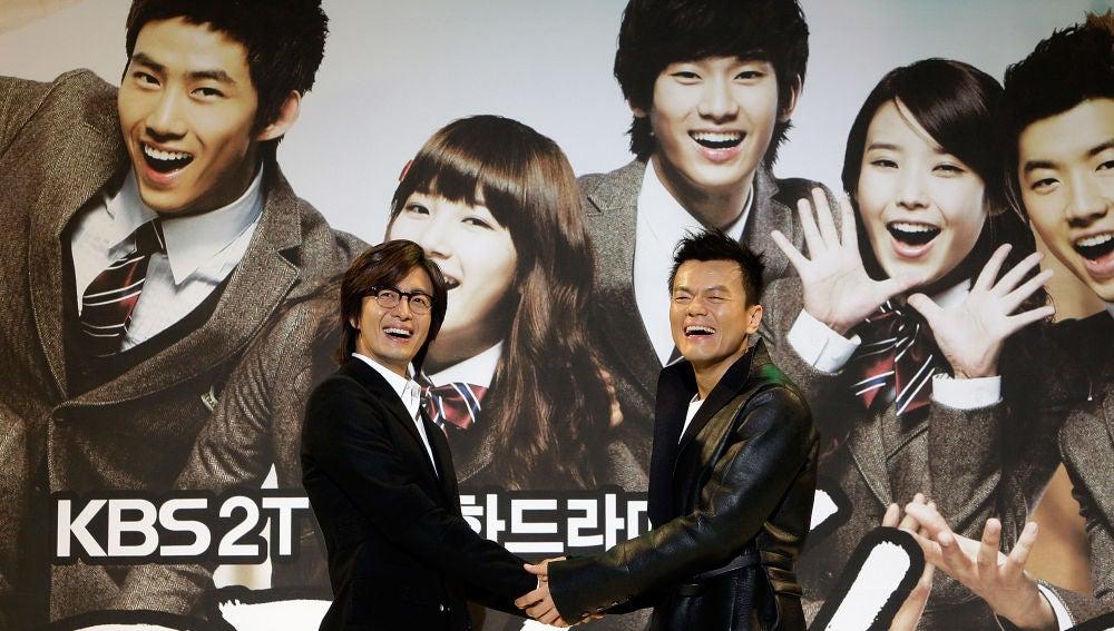 JY Park (derecha), uno de los comebacks del K-pop