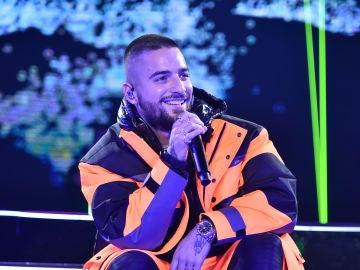 Maluma durante su concierto en el Madison Square Garden de Nueva York