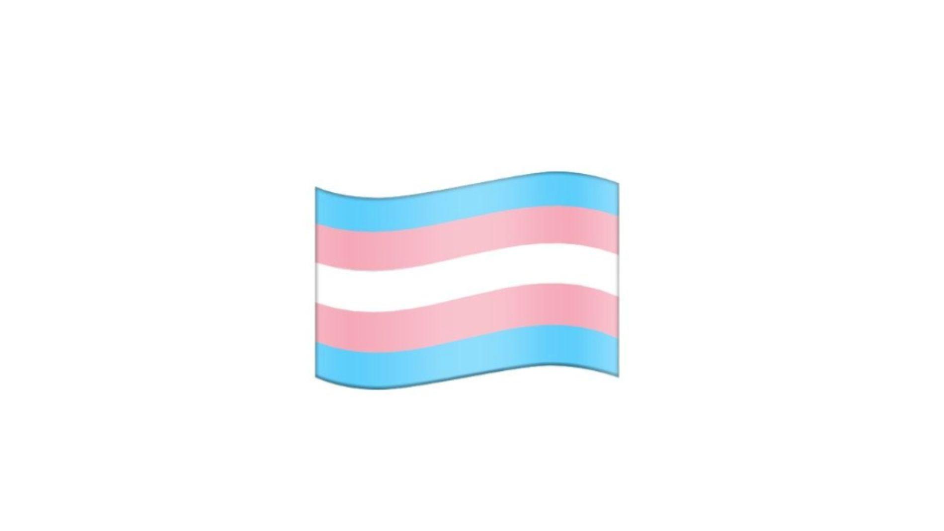 La bandera trans se une a los emojis