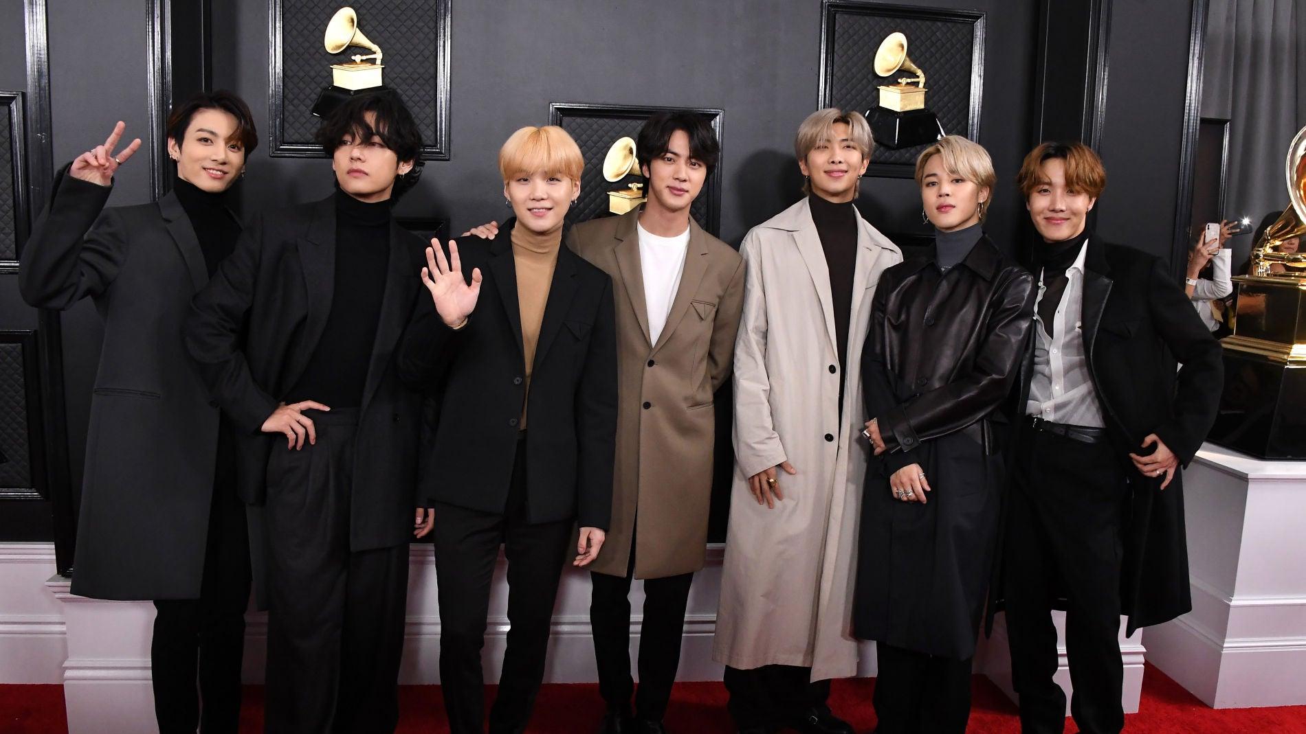 BTS en la alfombra roja de los Grammy